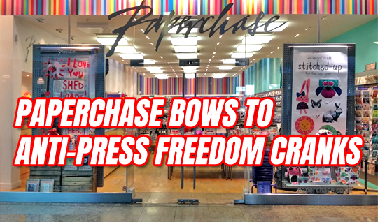 Paperchase Faces Backlash After Bowing to Anti-Press Freedom Cranks