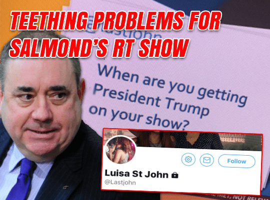 Teething Problems for Salmond's RT Show