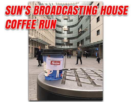 Sun Coffee Run to Broadcasting House