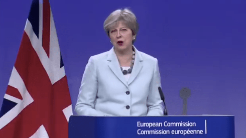 Watch: Moment May and Juncker Announce Deal