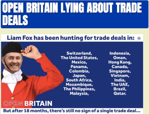 Open Britain Spinning About Trade Deals