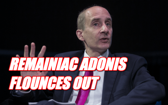 Barmy Adonis: Farage is PM