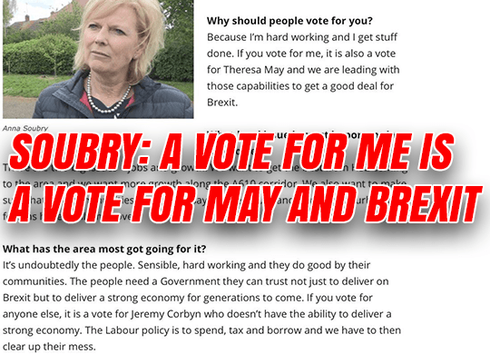 Soubry: Vote for Me is A Vote for 'Theresa May and Good Brexit Deal'