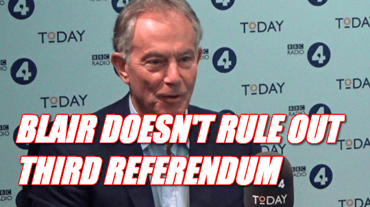 LISTEN: Blair Doesn't Rule Out Third Referendum