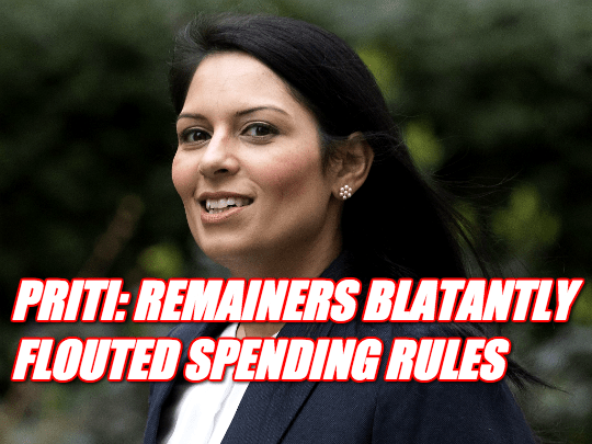 Priti Asks Electoral Commission to Investigate Remain Campaign