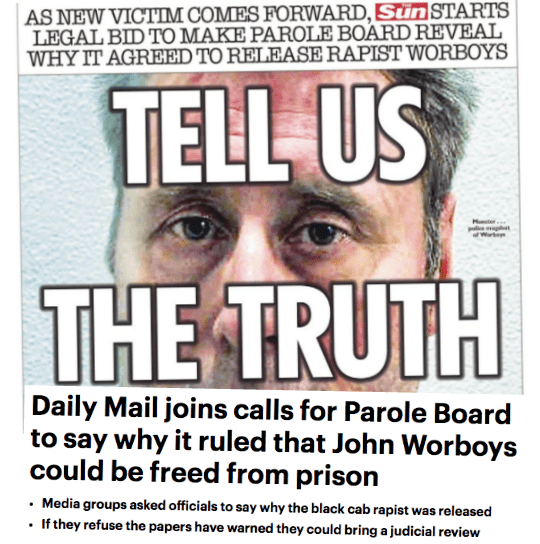 Sun and Mail Launch Worboys Judicial Review