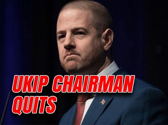Coup Gaffe UKIP Chairman Resigns