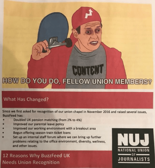 NUJ's BuzzFeed Lobbying Letter Sparks Outrage