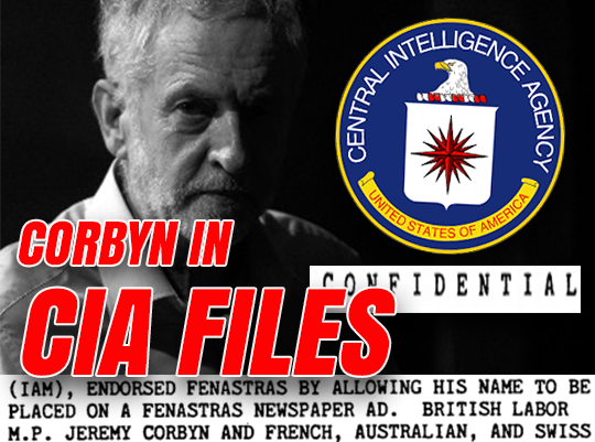 CIA Files Reveal US Spies Kept Tabs on Corbyn