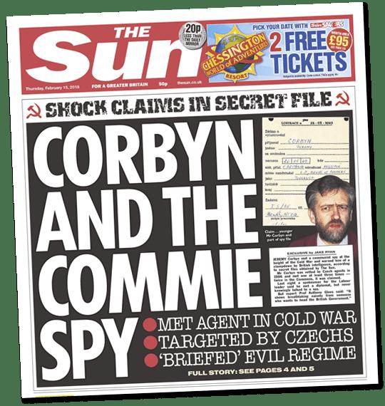 Gotcha! Commie Corbyn