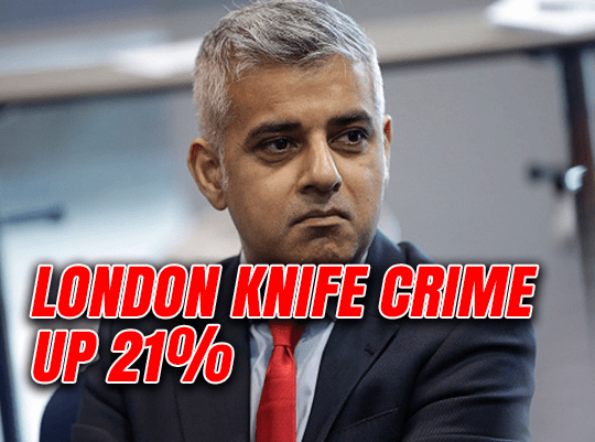 London Knife Crime Up 21%