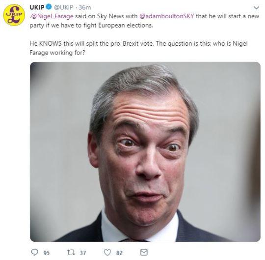 Loony New UKIP Attacks Nigel Farage