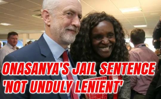 Onasanya's Jail Sentence 'Not Unduly Lenient'