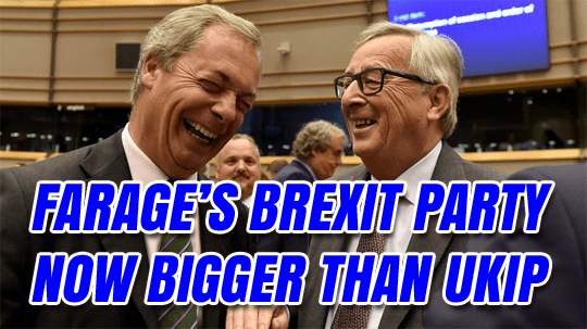 Farage's Brexit Party Now Has More MEPs Than UKIP - Euro Guido