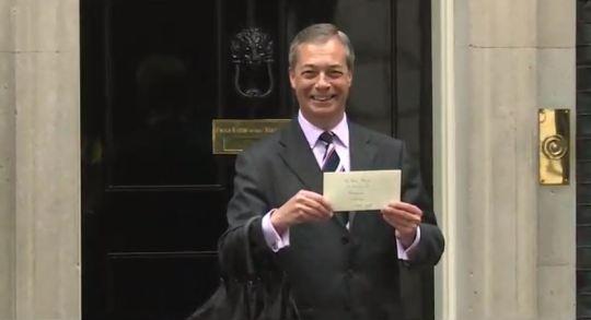 Nigel Farage At Number 10