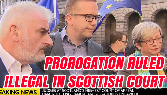 Prorogation Ruled Unlawful in Scottish High Court Appeal