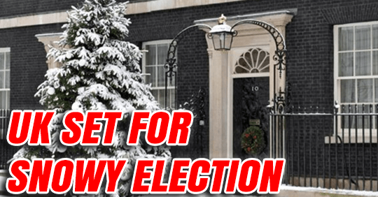 UK Heading for Snowy Election Day