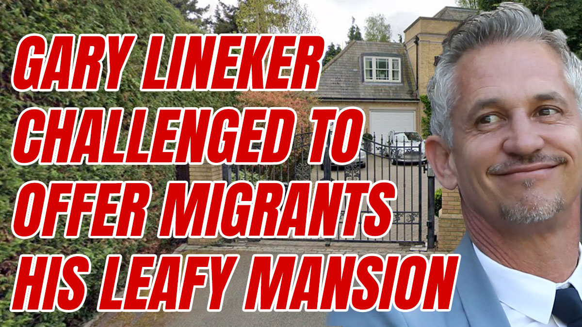 Tory MP Offers Gary Lineker's House Out to Illegal Migrants