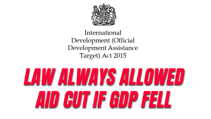 Tory MPs Voted to Allow Temporary Aid Cut in 2015