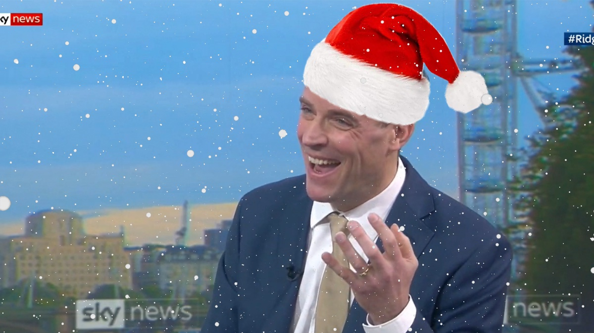 Raab Promises Not to Cancel Christmas