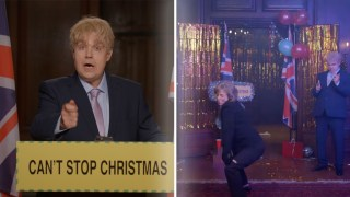 Robbie Williams Plays Boris in Christmas Music Video Featuring Twerking Theresa May