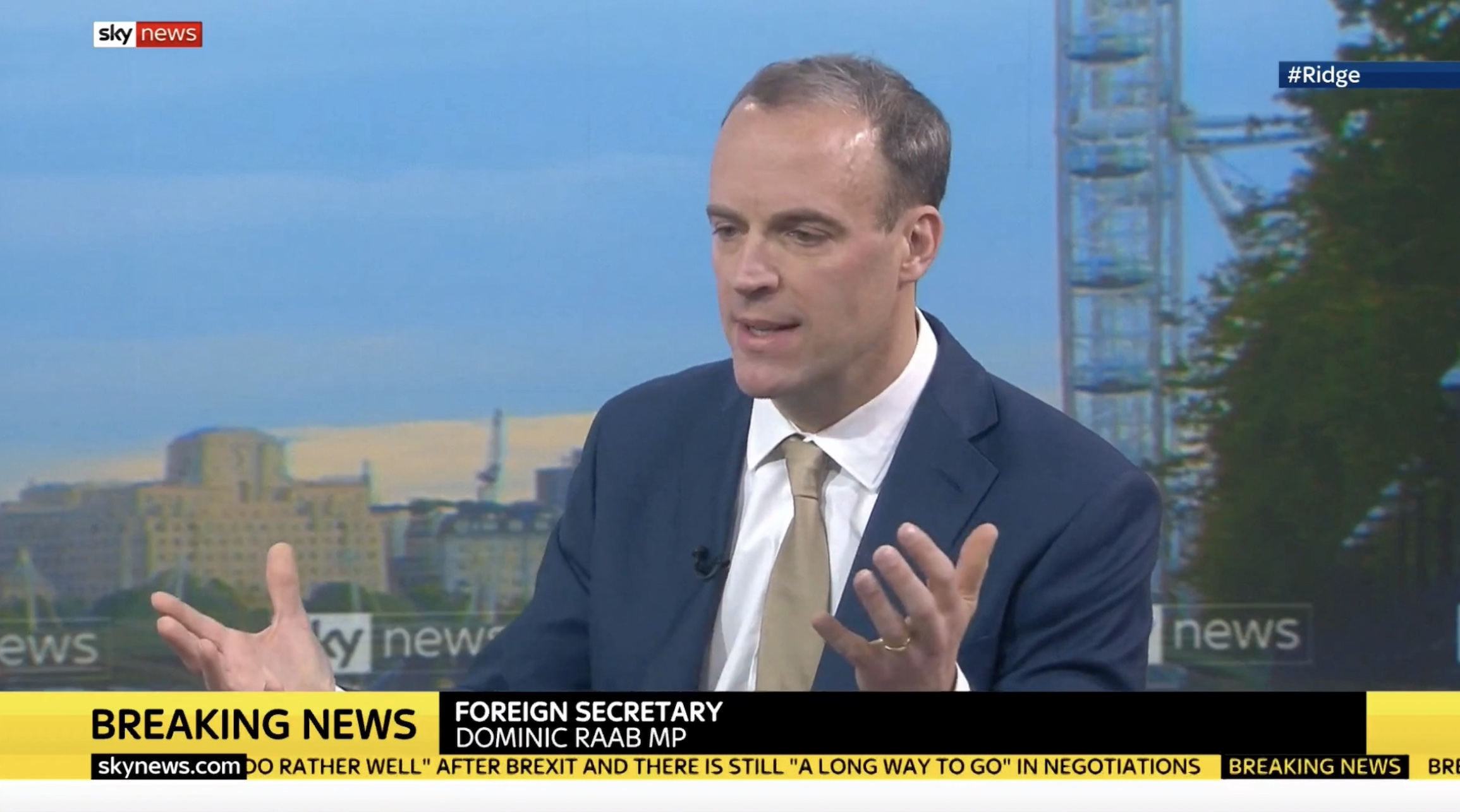Raab Doesn't Rule Out 2021 Negotiations