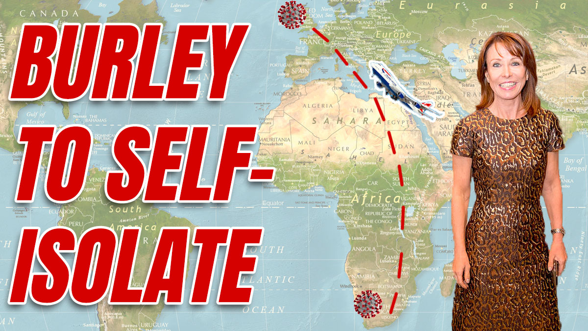 Jet Setting Kay Burley Told to Self Isolate After South Africa Trip