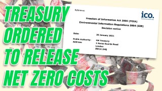Treasury Compelled to Release 'Net Zero' Cost Calculations