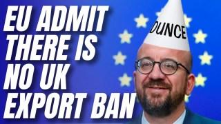 EU Admits UK Has No Vaccine Export Ban