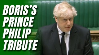 Boris Reads Prince Philip's Quips in Commons Tribute