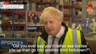 WATCH: Boris Denies 'Bodies Pile High' Comment
