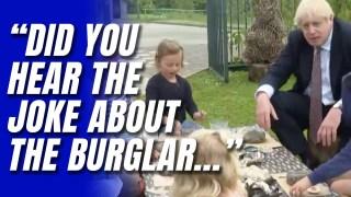 WATCH: Boris's Jokes Fall Flat with School Kids