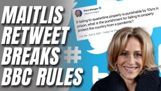 Maitlis Breaks BBC's Rules (Again) Retweeting Piers Morgan