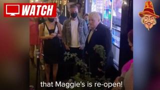Boris Impersonator Announces Maggie's Bar Re-Open