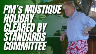 Boris Cleared by Parliament Standards Committee Over Mustique Holiday