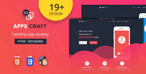 Apps Craft App Landing Page