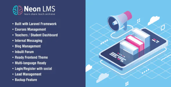 NeonLMS Learning Management System PHP Laravel Script with Zoom API Integration