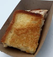 #5 - Smoked turkey and Fontina grilled cheese: Crusty. Melty. Meaty. Ms. Cheezious