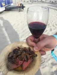 Beef tenderloin with Stags' Leap Cabernet Sauvignon