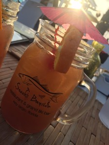 Tequila Sunrise at Snook's Bayside Restaurant - 99470 Overseas Highway, Key Largo - snooks.com