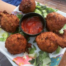 Conch fritters at Snook's Bayside Restaurant - 99470 Overseas Highway, Key Largo - snooks.com