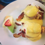 """""""BLT"""" Benny with bacon, lobster and tomato at Blue Heaven - 729 Thomas Street, Key West - blueheaven.com"""