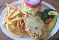 Almond-encrusted grouper sandwich at Lazy Days South - 725 11th Street Ocean, Marathon - lazydayssouth.com