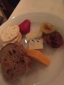 Cheese plate at Main Dining Room