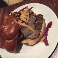 Organic beef burger at Milkwood