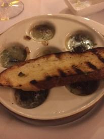 Escargots Bourguignon at La Parisienne