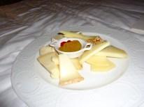 Cheese plate at Parco dei Principi Grand Hotel