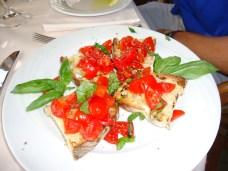 Bruschetta at Buca di Bacco Restaurant in Positano