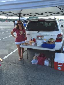 Tailgating at the stadium in Miami