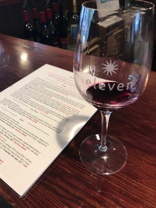 Wine tasting at Eleven Winery on Bainbridge Island, WA